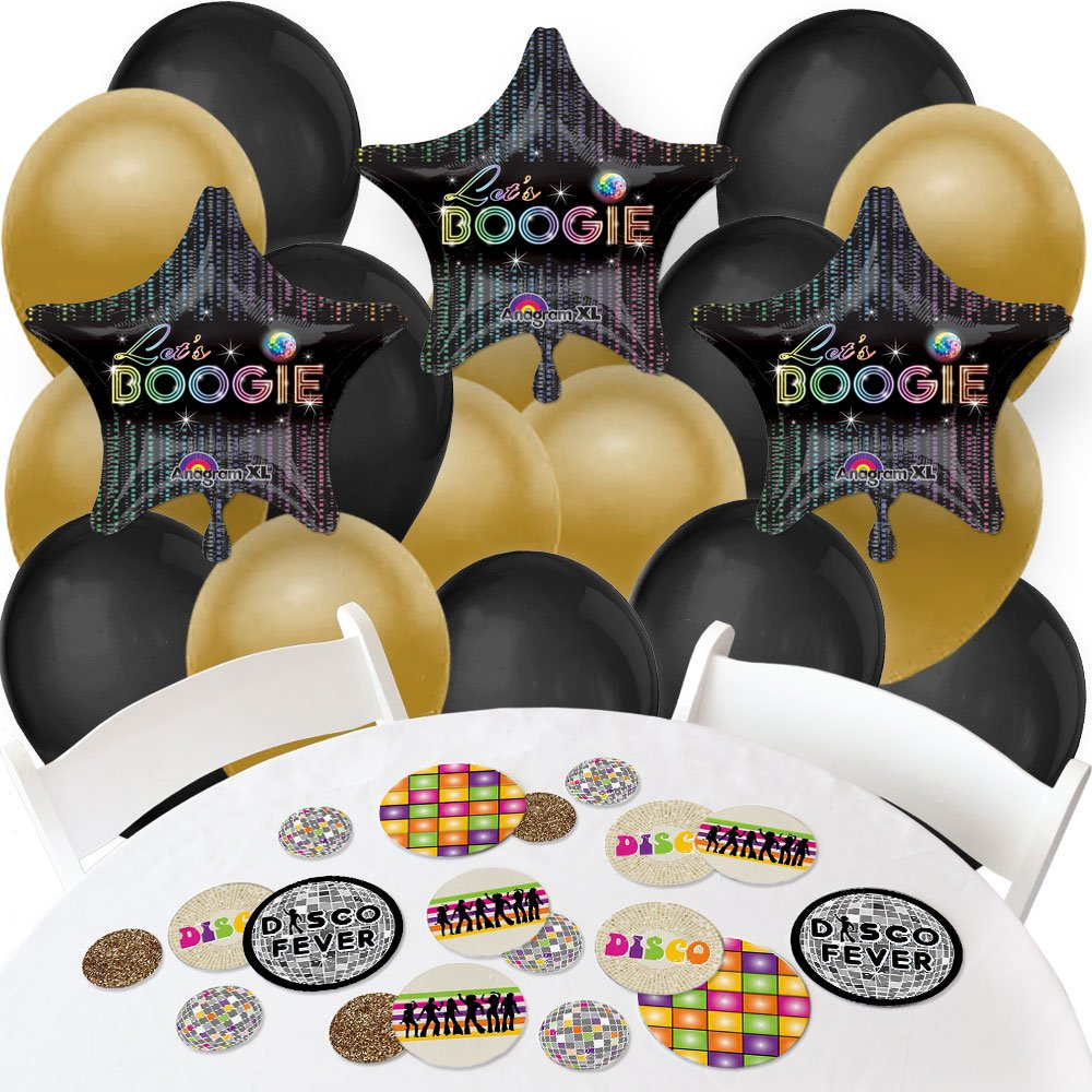 70's Disco - Confetti and Balloon 1970s Disco Fever Party Decorations - Combo Kit