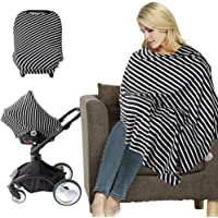 NUOBESTY Baby Car Seat Canopy Nursing Cover Breathable Mountain Background Baby Stroller Carseat Cover Shopping Cart Scarf for Baby Breastfeeding