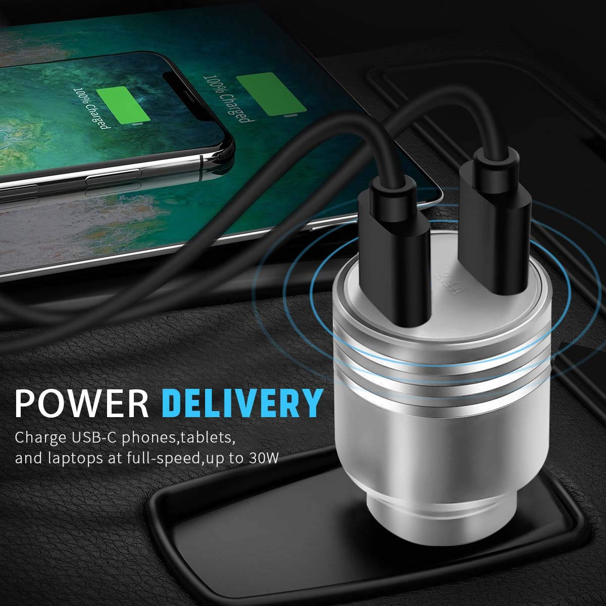 Airror USB Car Charger 3.4A Rapid Dual Smart USB Car Charger Power Adapter for iPhone X//8//8 Plus//7//6s//6s Plus//Galaxy Note 8//S9//S8//S7//S6//Edge//Plus and More 895 4352749407