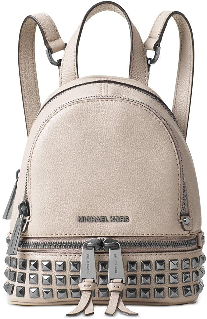 9b52e49afa5aa Amazon.com  Michael Kors Rhea Extra-Small Studded Leather Backpack - Cement  - 30T6TEZB5L-092  Shoes