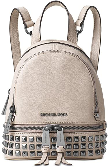 613fa048b9e8 Amazon.com  Michael Kors Rhea Extra-Small Studded Leather Backpack - Cement  - 30T6TEZB5L-092  Shoes