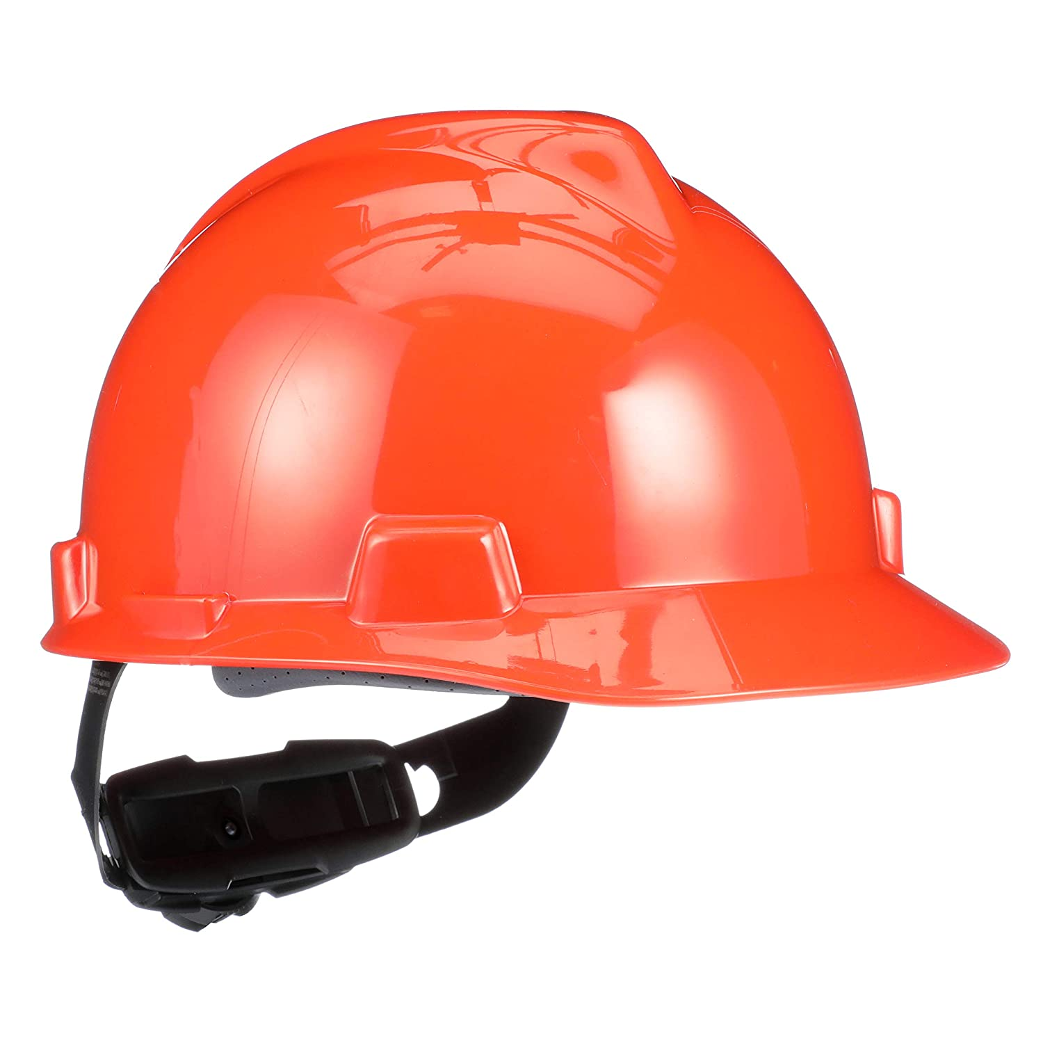 B0002ZIA8C MSA 475361 V-Gard Hard Hat Front Brim with Ratchet Suspension, Standard, Orange 71r1IX8ju0L