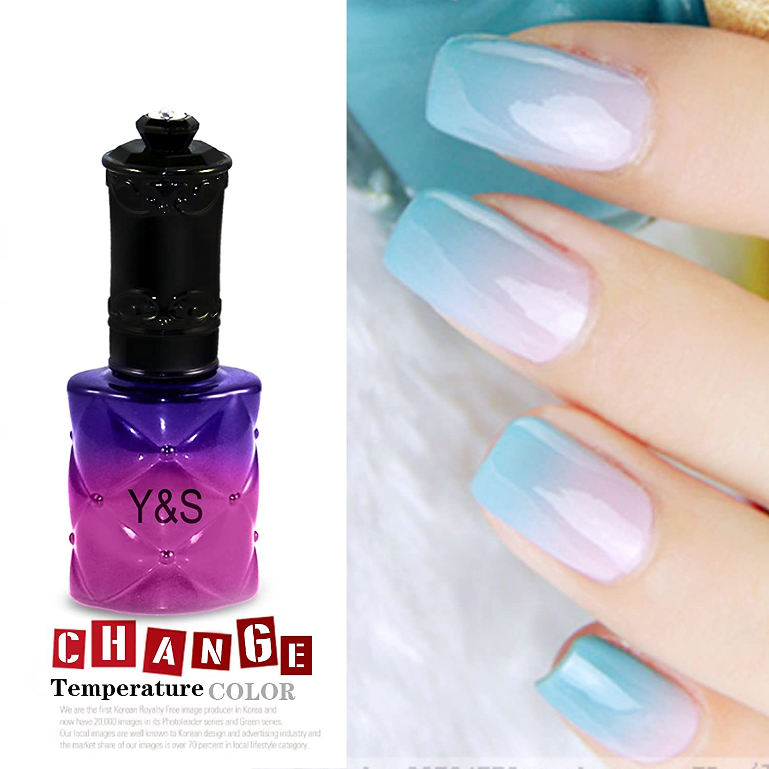 Amazon.com: 15ML Temperature Change Color Soak Off Nail Art UV Gel ...