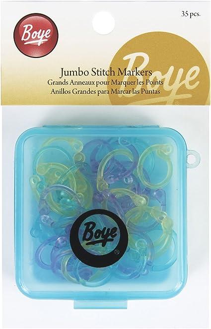 20 Pack Boye 7581000M Stitch Marker Rings