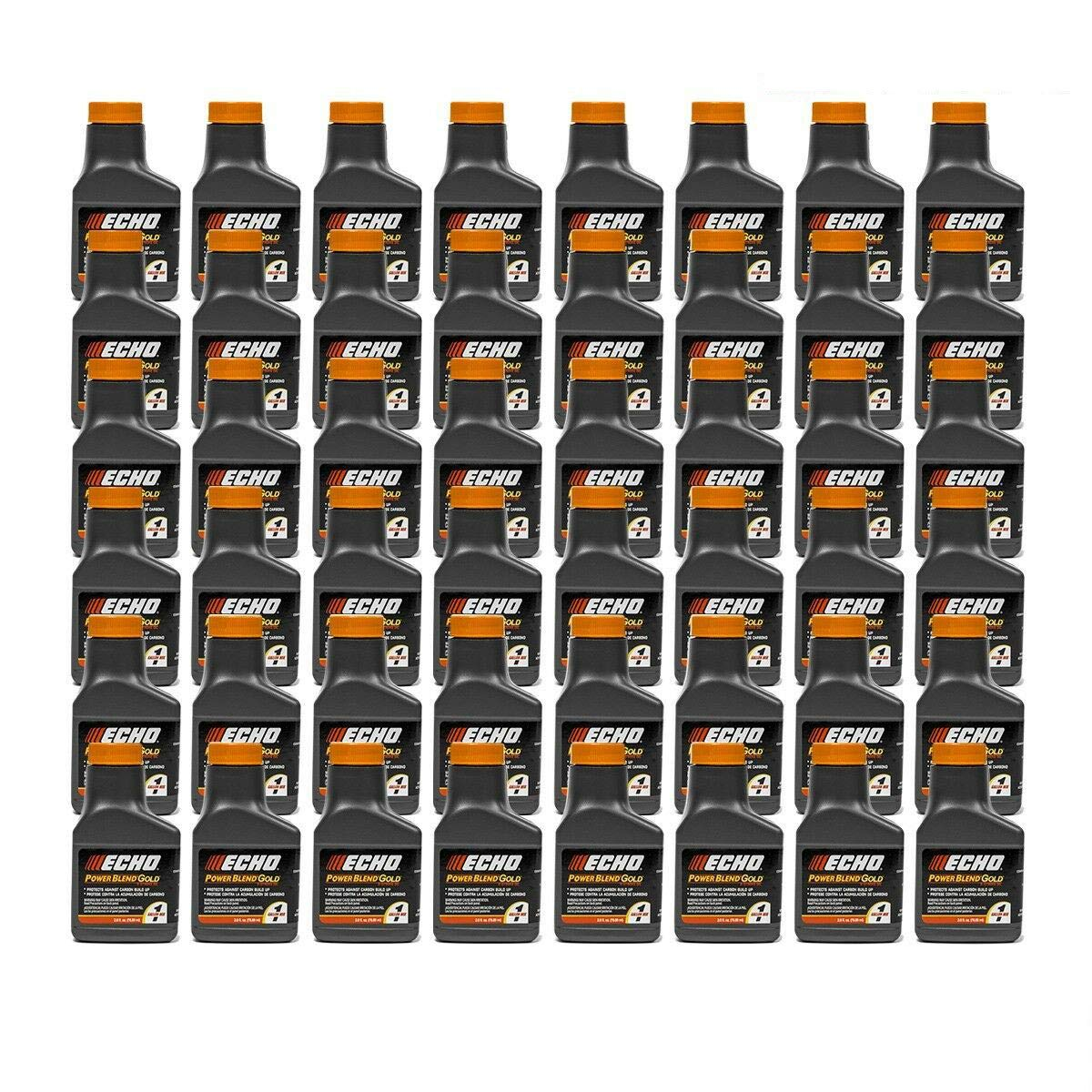 Genuine 48 Pack Echo 2.6 oz Oil Bottles 2 Cycle Mix for 1 Gallon Power Blend / 6450001