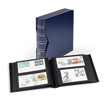 Álbum para 200 FDCs o cartas Din Lang, incl. Cajetín, azul ...