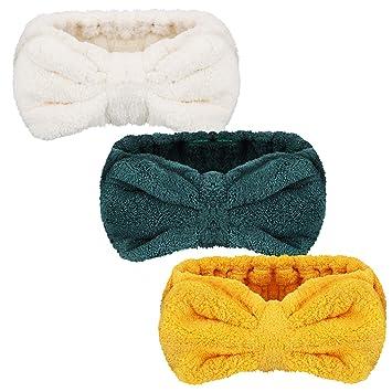 6 unidades de diademas de microfibra para maquillaje banda el/ástica para el pelo lavar spa yoga deportes ducha belleza facial cuidado de la piel maquillaje para ni/ñas y mujeres lazos cosm/éticos
