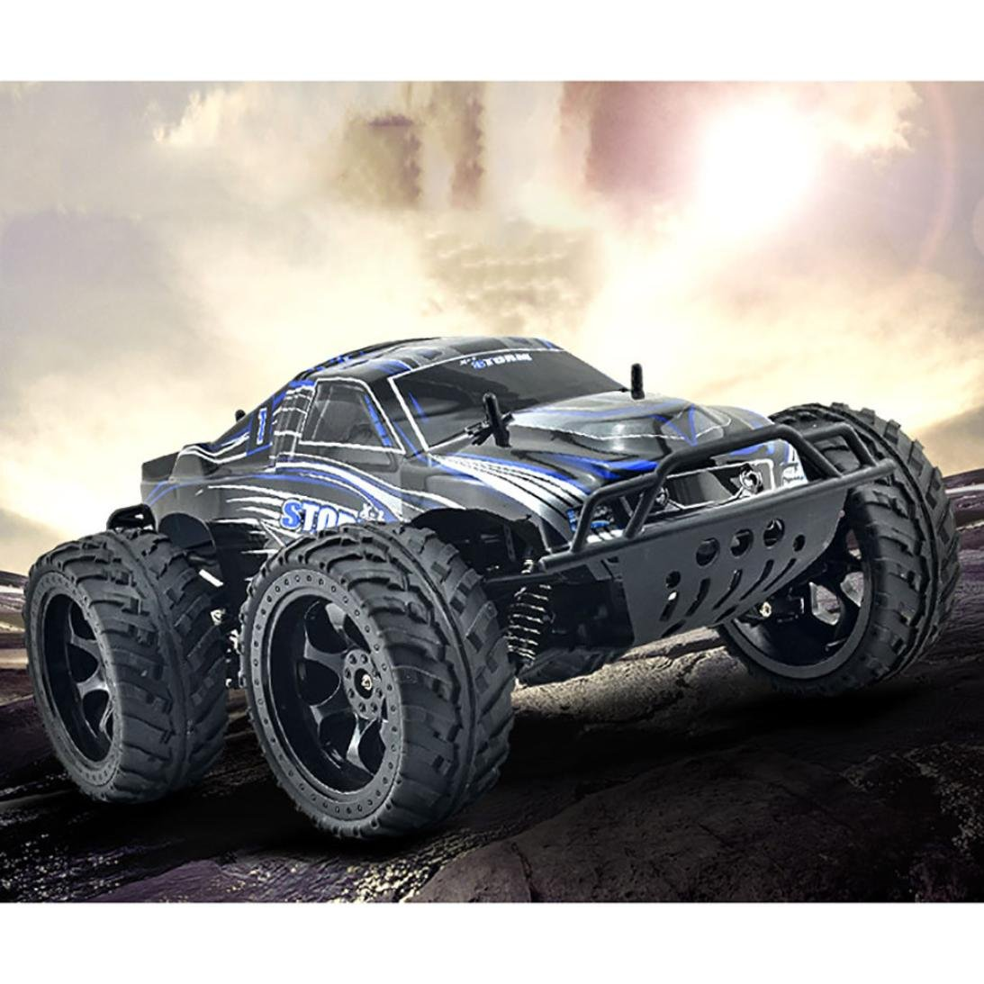 Excellent 990 1:10 Four-Wheel Drive Off-Road Vehicle Remote High-Speed Drift Dreamyth (Blue)