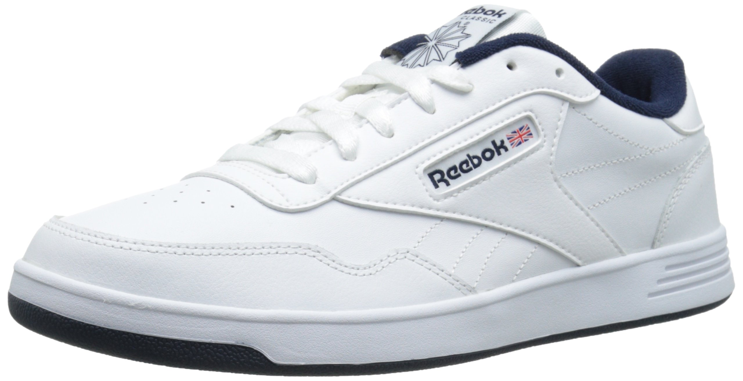 Reebok Men's Club MEMT Fashion Sneaker, White/Collegiate Navy, 10.5 M US by Reebok