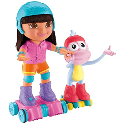 Nickelodeon Fisher-Price Dora The Explorer, Skate and Spin Dora and Boots: Toys & Games
