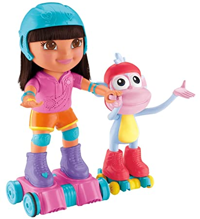 Fisher-Price – Dora the Explorer – Skate & Spin Dora & Boots – Figurine Version Anglaise DUI2w