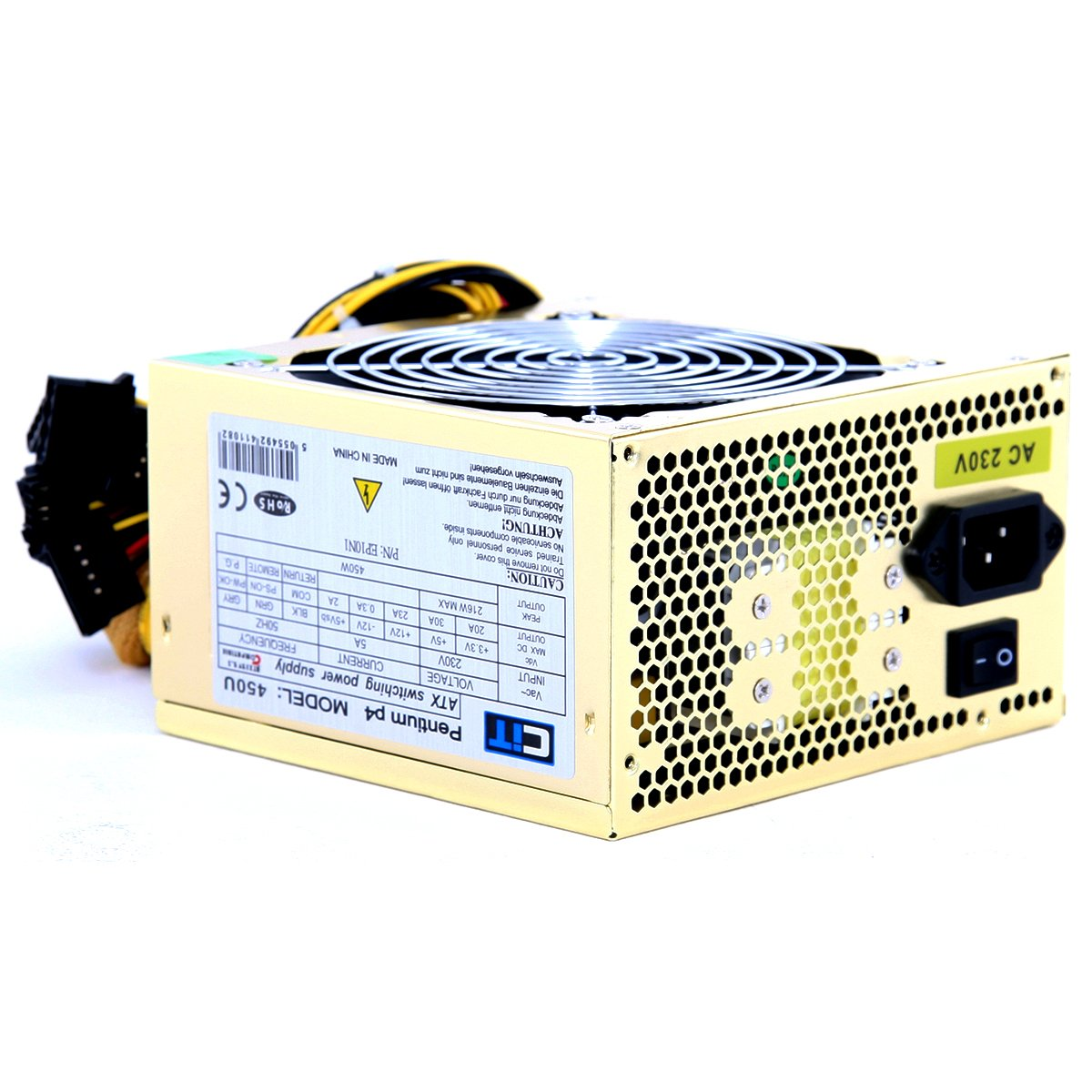 CIT 450w Gold 12CM Silent Atx Power Supply: Amazon.co.uk: Computers ...