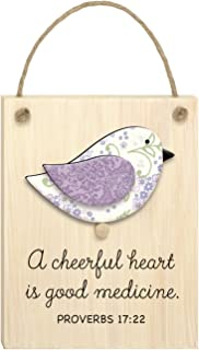"product image for Imagine Design 3.5""x 6 Cheerful Heart Chirps Plaque"