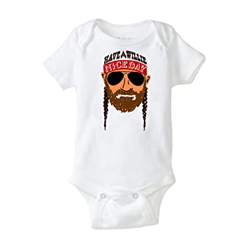 f9562bd1 Willie Nelson Cool Baby Shower Gift Country Music Cute Funny Have A Willie  Nice Day Texas