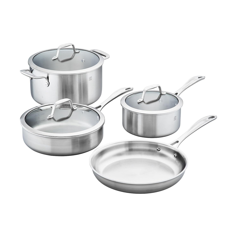ZWILLING J.A. Henckels 64090-000 Spirit Stainless Steel Cookware Set, 7-pc
