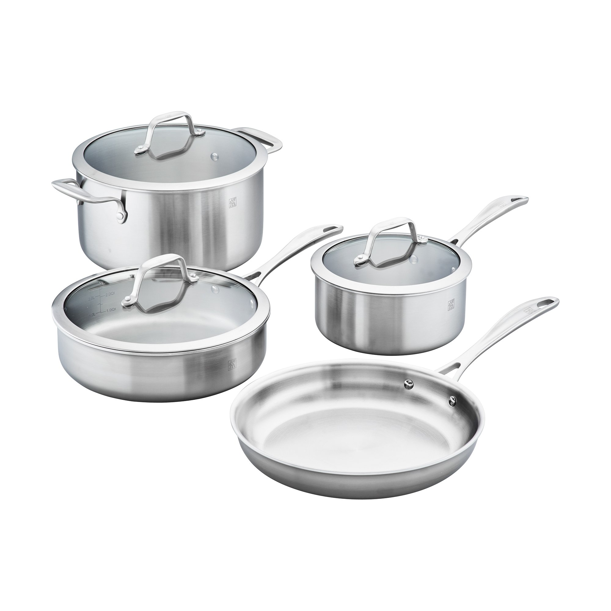 ZWILLING Spirit 3-ply 7-pc Stainless Steel Cookware Set