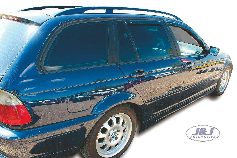 Deflecteurs dair D/éflecteurs de Vent Compatible avec BMW 3 E46 5Portes Break 1998-2004 4pcs J/&J AUTOMOTIVE
