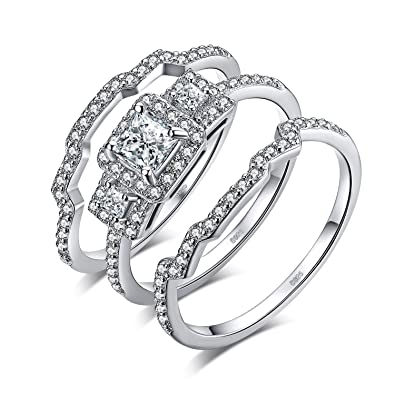 f57b5d79fcb84 Amazon.com: JewelryPalace 3pc Vintage Wedding Rings Wedding Bands ...