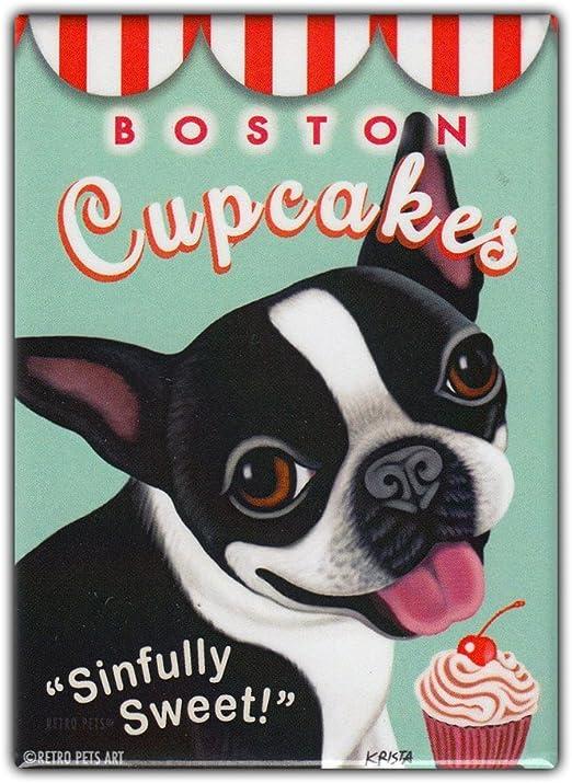Tool  Box  Magnet Funny Boston Terrier Dog Treats  Refrigerator
