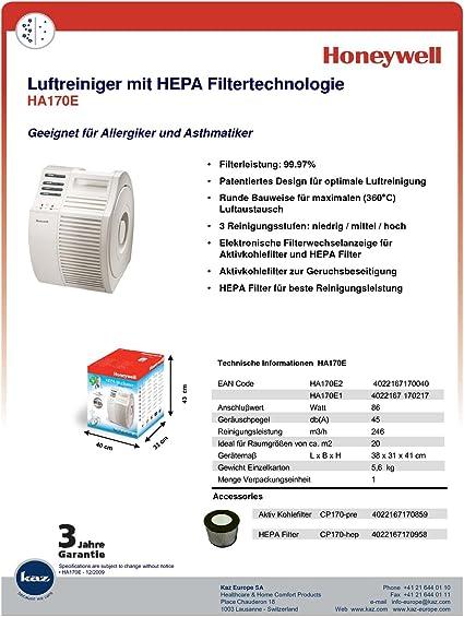 Honeywell HA170E - Purificador de aire con tecnología de filtro ...