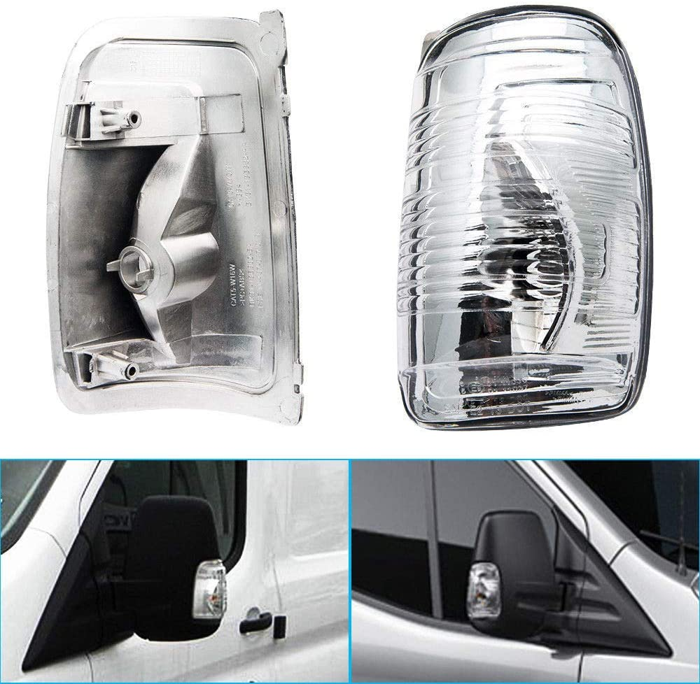 Dasing 1847389 Wing Mirror Indicator Lamp Lens Cover Door Wing Mirror Indicator Lens Right Side for Transit MK8 2014-2019
