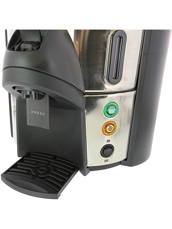 Focus Foodservice 57060 Coffeemaker, 60 Cup, Stainless Steel Black