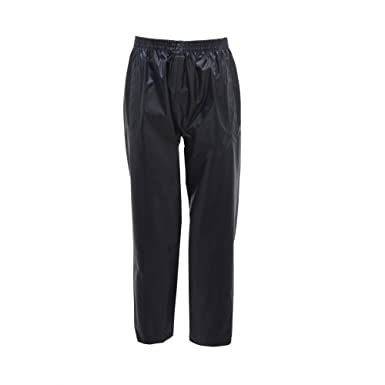 c1f9e0131dc38 Kids Regatta Waterproof 2-Piece Rain Set Jacket & Trousers Suit Rainsuit Boys  Girls Childs Unisex (5-6 Years, Navy Blue): Amazon.co.uk: Clothing