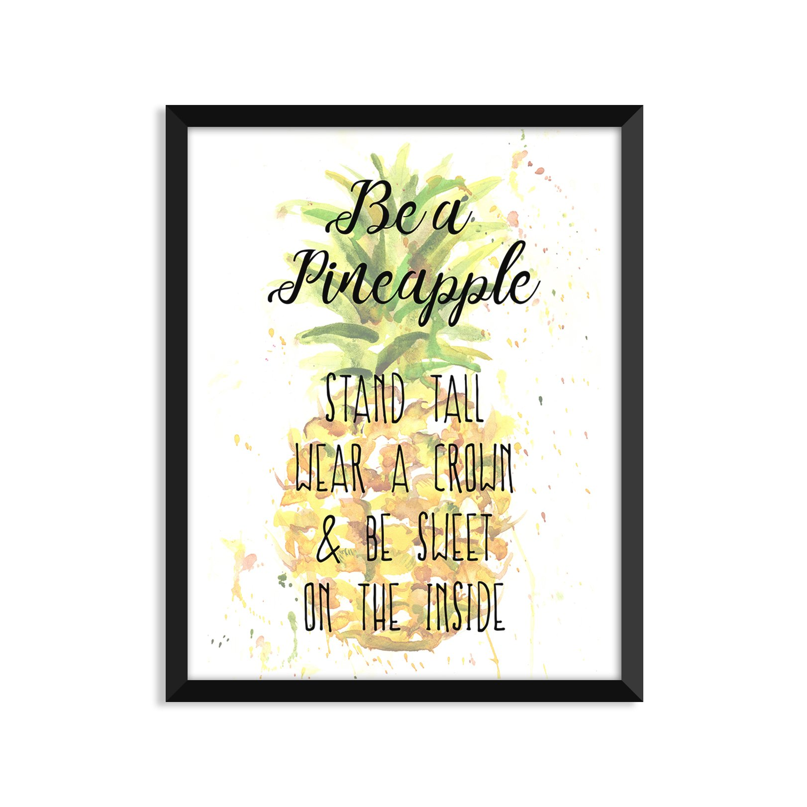 Be A Pineapple, Inspirational Quote, Minimalist Poster, Home Decor, College Dorm Room Decorations, Wall Art