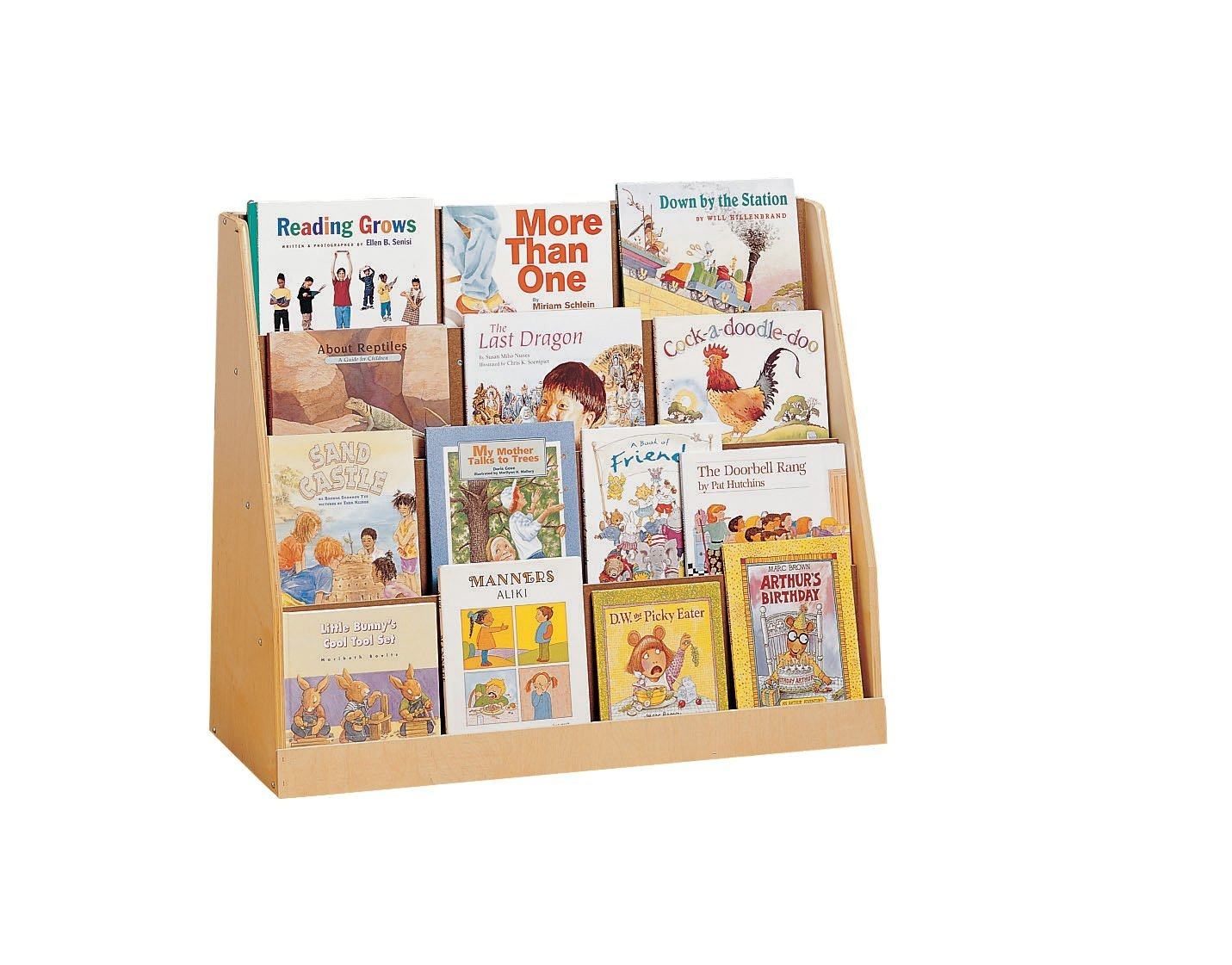 Childcraft 521162N 4 Shelf Book Display, 36 x 11-3/4 x 29 Inches Height,11.75 Inches Width,36 Inches Length,Natural Wood