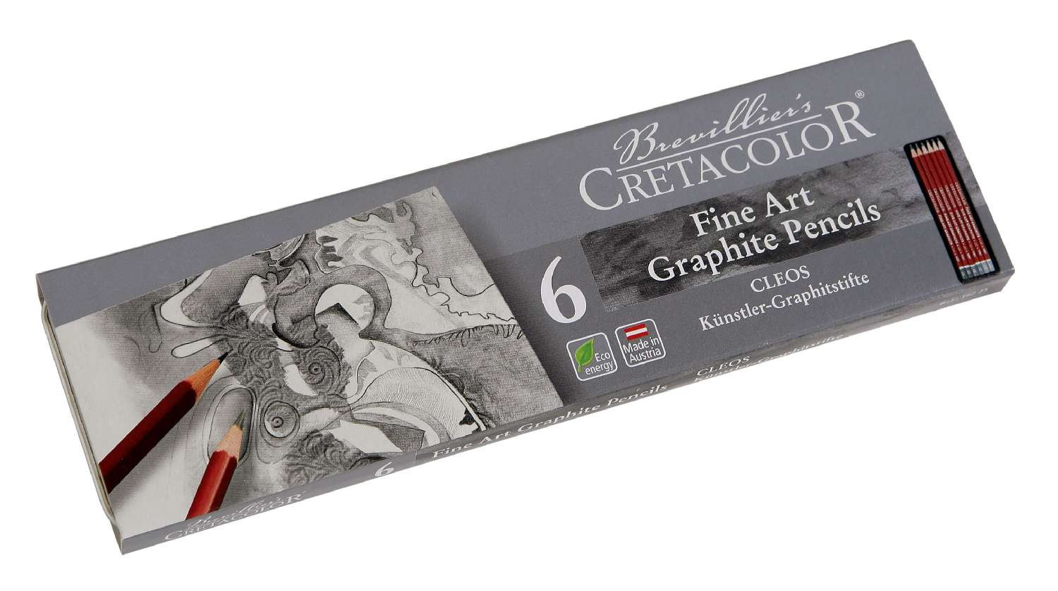 Cretacolor 160 25 – Fine Art Matite in grafite, Pocket Set, 6 pezzi 160 25