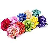 Sposa fiori per capelli grande fiore testa drachensilber capelli fiore fermaglio per capelli con accessori spille di sicurezza da donna Flower fiori