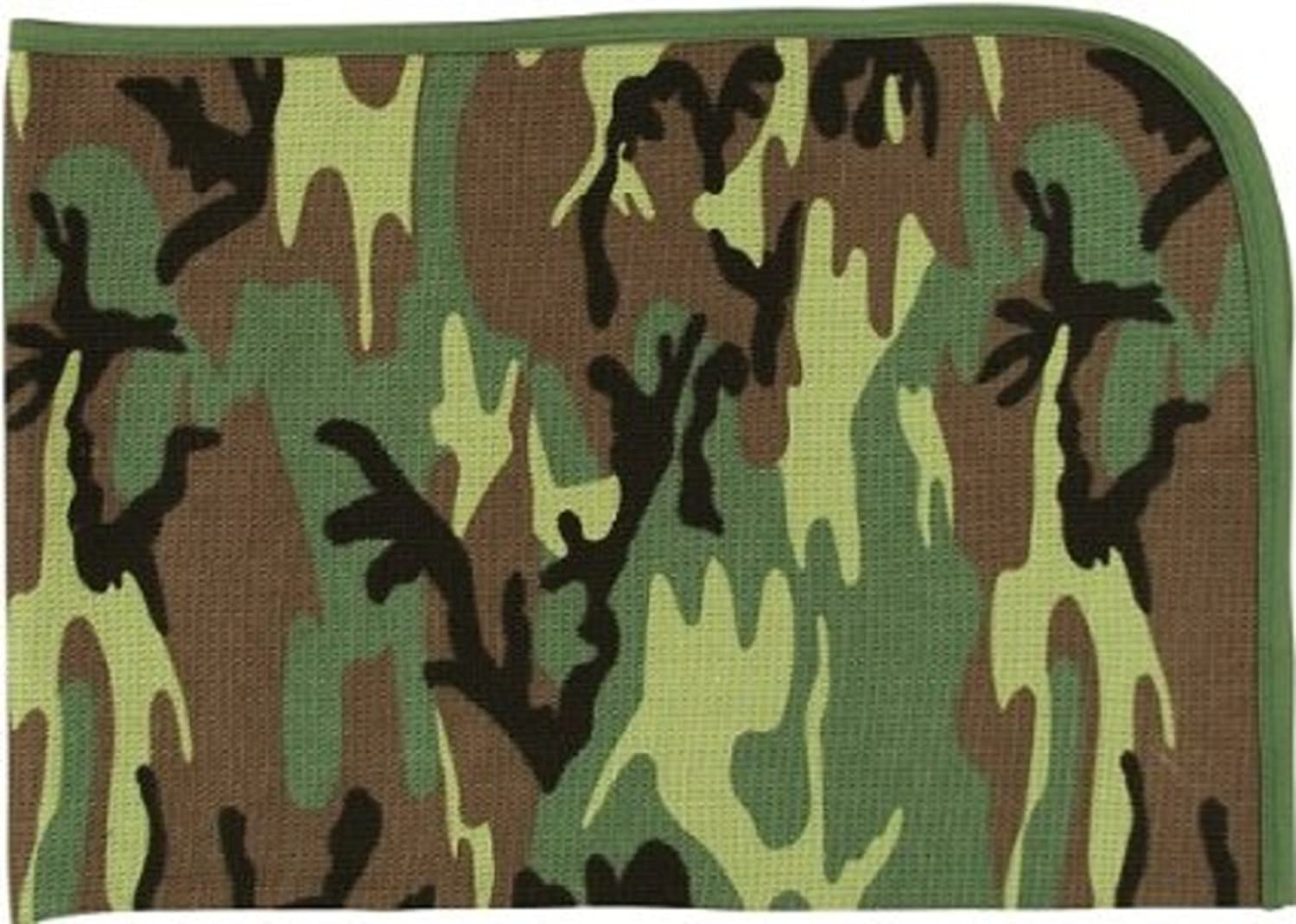 2450 Infant Woodland Camo Reveiving Blanket   B000OH1S2I