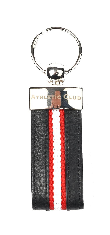 Athletic Club Bilbao Llavero Oficial Piel Negro con Banda ...