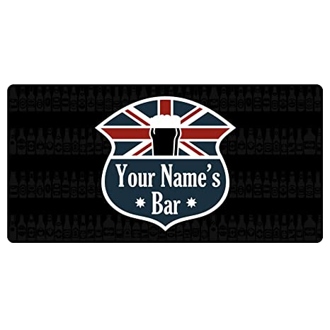 PERSONALISED COCKTAIL BAR AND GRILL RUNNER IDEAL FOR HOME PUB BEER MAT OCCASION