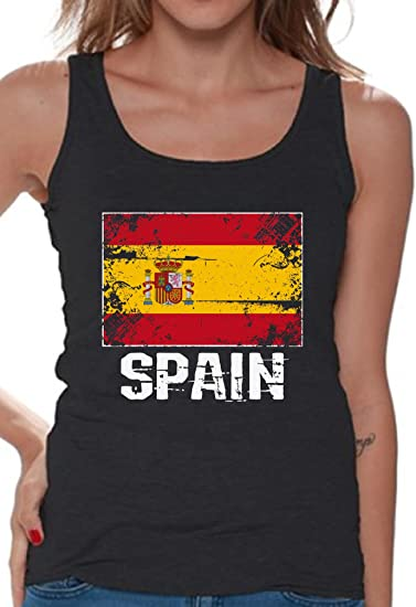 c5544126 Amazon.com: Awkward Styles Women's Spain Tank Tops Spain Flag Tank Spanish  Gifts for Her: Clothing