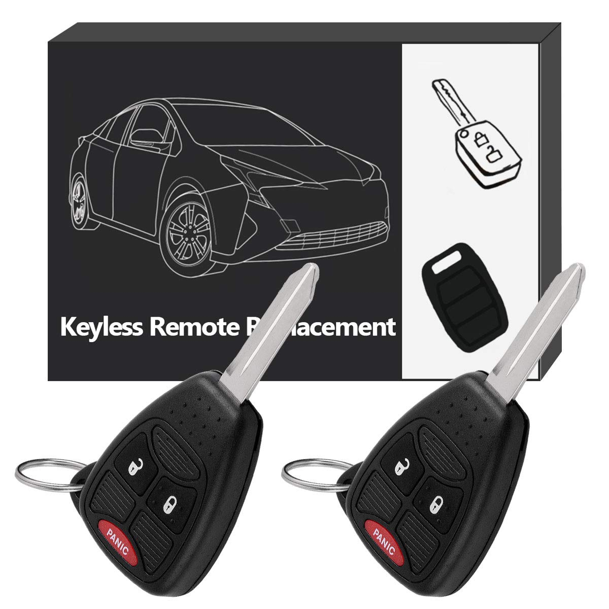 YITAMOTOR Key Fob Replacement for M3N5WY72XX Keyless Remote Control Car Ignition 3-Button Compatible for 2004 2005 2006 2007 Dodge Caravan Grand Caravan Chrysler Town and Country