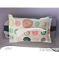 Car Tissue Holder Sun Visor, Hanging Mask Dispenser for Car, Backseat Headrest Car Tissue Box Cute, Floral Tissue…