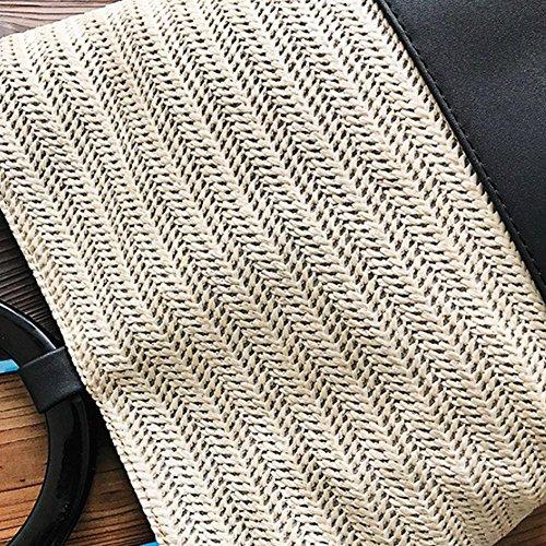 Leggermente Spalla Piazzetta Contorta Singolo Paglia Rotonda Borsa Di Donna Versatile Spiaggia Kaki Messaggero Y0qPrpYw