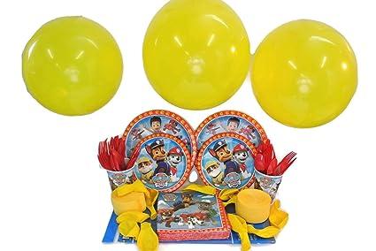 Nickelodeon Paw Patrol Fiesta De Cumpleanos Bundle De 123 Articulos