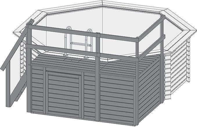 Piscina Karibu modelo 2 Variante C.: Amazon.es: Jardín