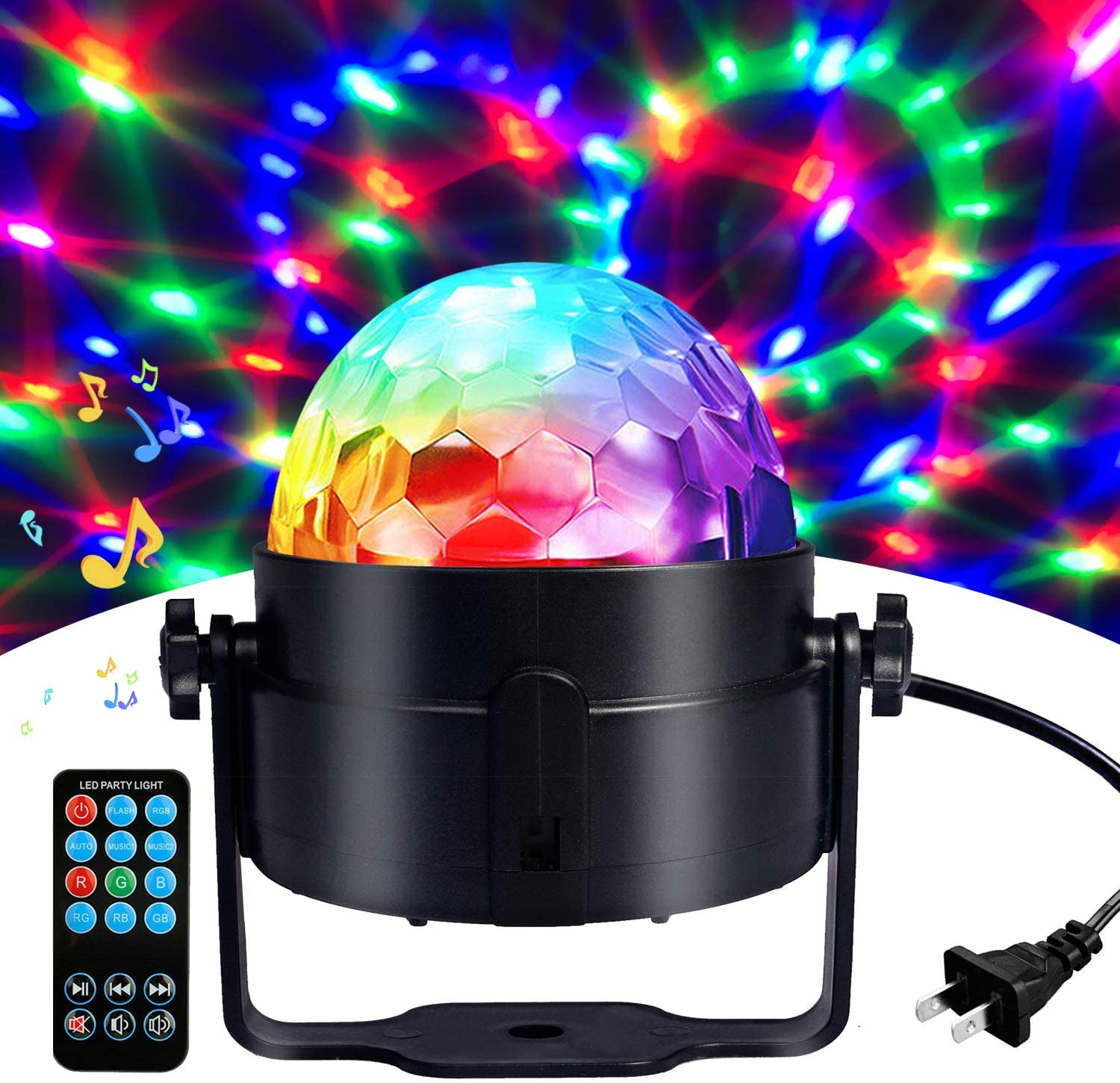 COIDEA Party Lights Sound Activated Storbe Light With Remote Control DJ Strobe Lighting