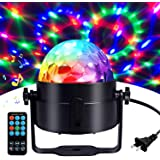 Disco Ball Disco Lights-COIDEA Party Lights Sound Activated Storbe Light With Remote Control DJ Lighting,Led 3W RGB…