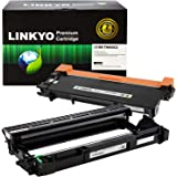 LINKYO Compatible Toner Cartridge and Drum Set Replacement for Brother TN660 TN-660 DR630 DR-630 (1 Toner Cartridge, 1…