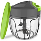Home Puff 3-Blade Plastic Vegetable Chopper, Cutter with Storage Lid, 650ml