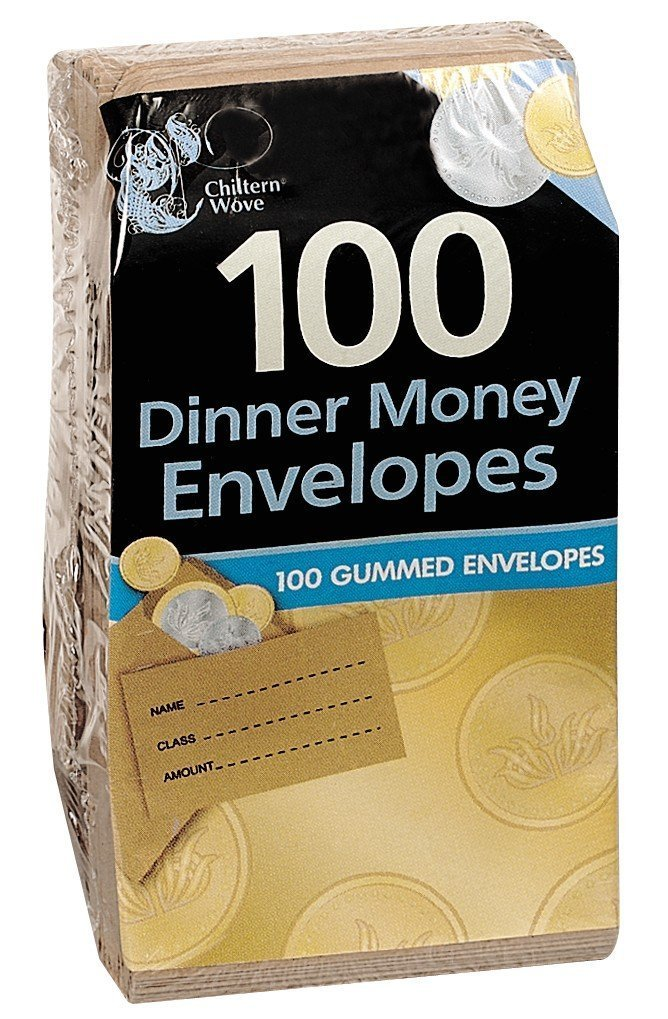 Pack of 100 Dinner Money Envelopes OfficeCentre ss612