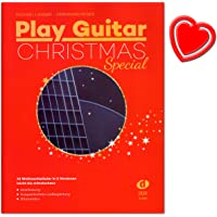 Play Guitar Christmas Special – 33 CHANSONS en 3 versions (Solo, Duo, CHANT DE NOËL avec guitare Accompagnement) – Facile à moyen – Notes avec coloré Cœur Note klamme