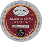 Twinings English Breakfast Decaf Tea 48-Count K-Cups for Keurig Brewers