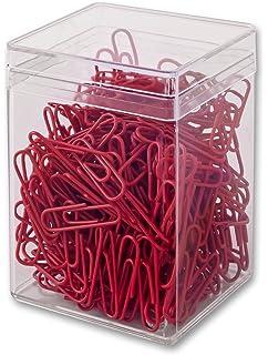 1000 Büroklammern Weiß Rot 28 mm Briefklammern kunststoffüberzogen Zebra