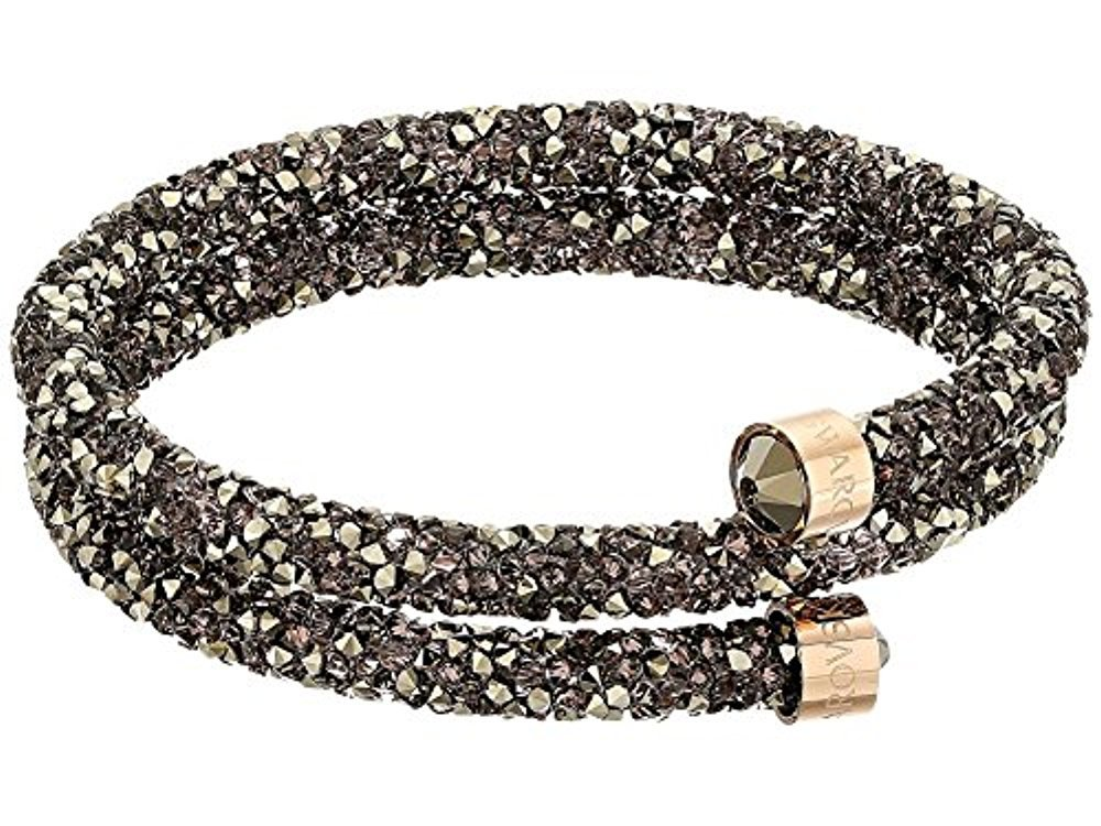 Swarovski Crystal Crystaldust Multi-Colored Double Bangle, Rose Gold-Plated
