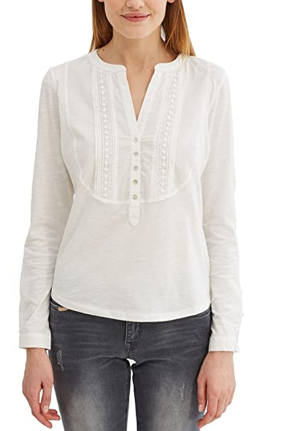 EDC by Esprit 027cc1k062, Camisa para Mujer, Blanco (Off White), 42 (Talla del Fabricante: X-Large)